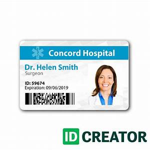 17 best images about healthcare hospital badge on for Hospital id badge template