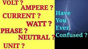 Watt Volt Ampere : what is the meaning of voltage current volt ampere ~ A.2002-acura-tl-radio.info Haus und Dekorationen