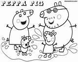 Coloring Peppa Pig Pages Print Drawing Printable Sheets Template Peppapig Cartoon Popular Colorings Coloringhome sketch template