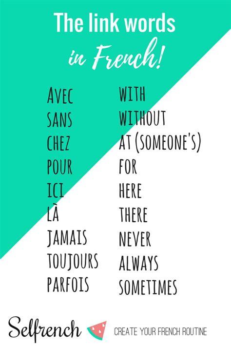 Pinterest   Basic french words, French language lessons ...