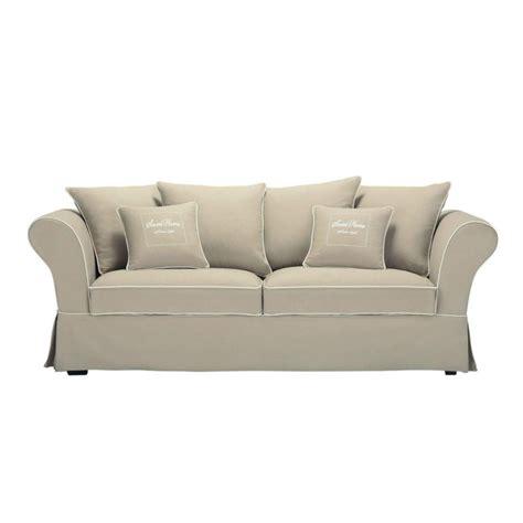 canap 233 3 4 places en coton beige sweet home maisons du monde