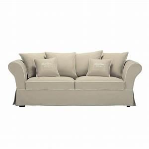 Sofa 4 Sitzer : sofa 3 4 sitzer aus baumwolle beige sweet home sweet home maisons du monde ~ Eleganceandgraceweddings.com Haus und Dekorationen