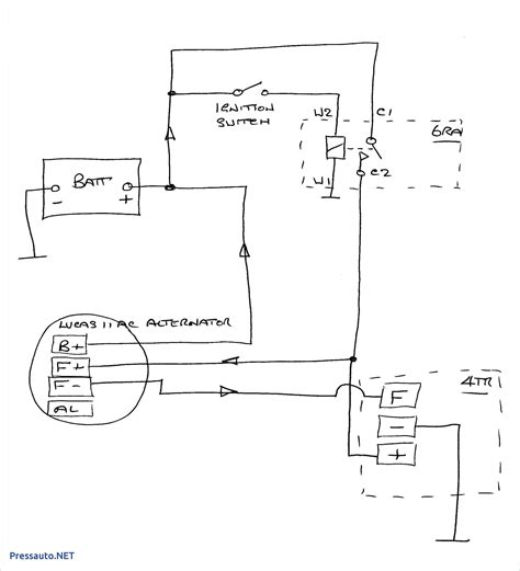 3 Wire Delco Alternator With Regulator Wiring Diagram by Chevy 4 Wire Alternator Wiring Diagram Untpikapps