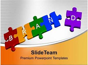 3d Jigsaw Puzzles Of Brand Sales Powerpoint Templates Ppt