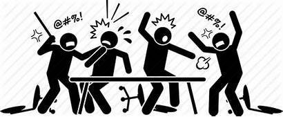 Conflict Icon Meeting Argue Dispute Fight Violent