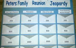 Family Reunion JEOPARDY Games
