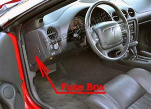 Fuse Box Diagram 1994 Pontiac Firebird