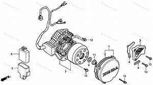 Honda Motorcycle 2001 Oem Parts Diagram For Left Crankcase