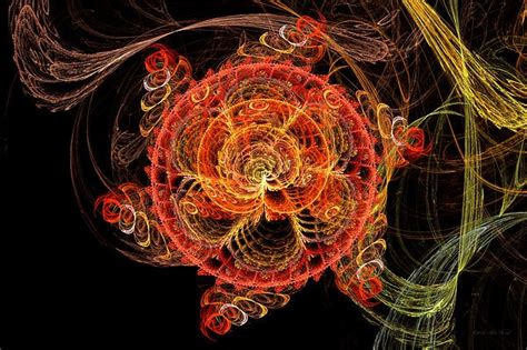 Fractal Abstract Mardi Gras Molecule By Mike Savad