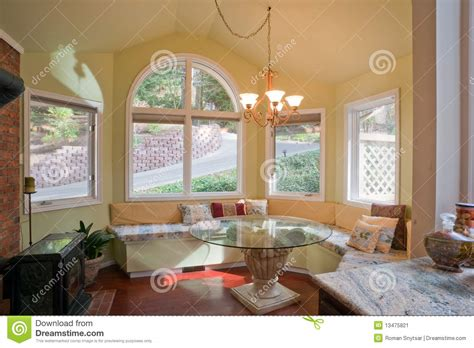 breakfast nooks for luxury kitchen nook with bay window stock image image