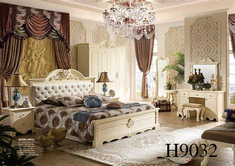 popular antique luxury king size wood bedroom