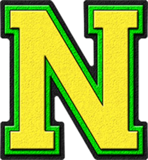 image 26 letters in the alphabet png the amazing presentation alphabets yellow green varsity letter n 86435