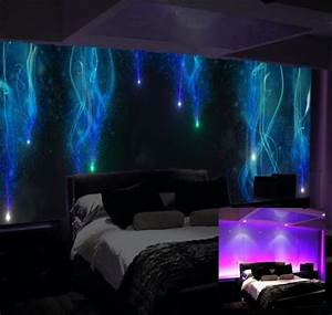 glow in the dark luminous art bedroom mural