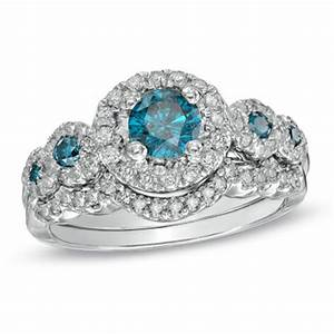 does anyone have this zales blue diamond e ring weddingbee With do wedding rings have diamonds