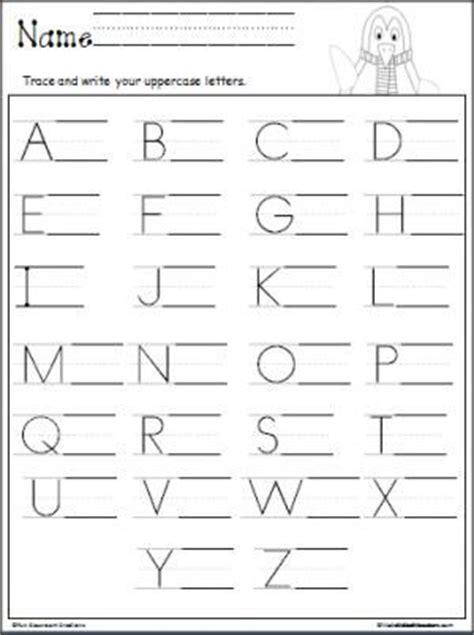 penguin uppercase letter writing alphabet writing