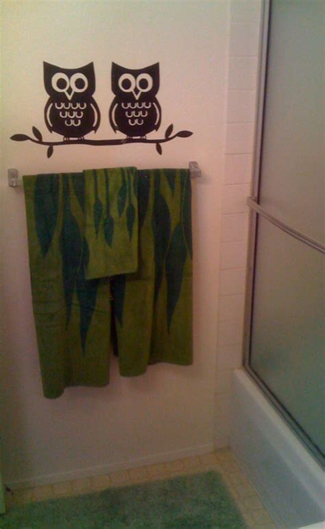 Owl Bathroom Decor Set by 8 Best Images About Owl Idea To Vinyl On