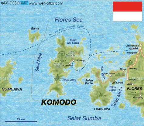 map  komodo island  indonesia welt atlasde