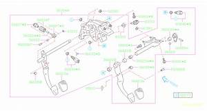 2015 Subaru Impreza Pedal Assembly-brake And Clutch  System  Steering