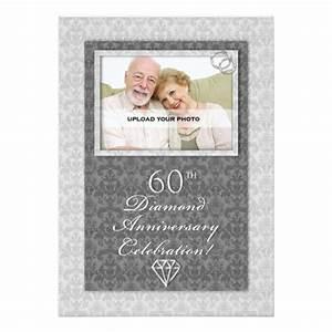 60th diamond wedding anniversary party invitations zazzle With 60th wedding anniversary party invitations
