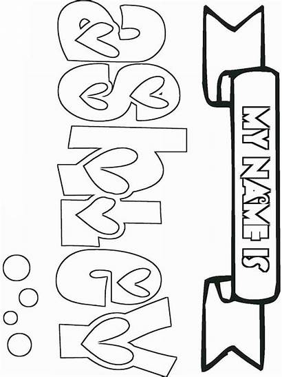 Coloring Pages Names Printable Alyssa Recommended Bright