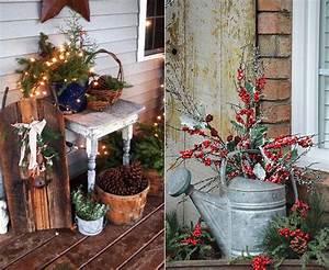 Eingangsbereich Außen Dekorieren : outdoor dekoideen f r einen festlichen hauseingang zur weihnachtszeit freshouse ~ Buech-reservation.com Haus und Dekorationen