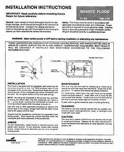 Quartz Flood Imi-179 Manuals