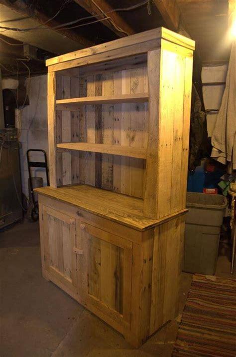 wooden pallet kitchen cabinets pallet wood kitchen hutch 101 pallets
