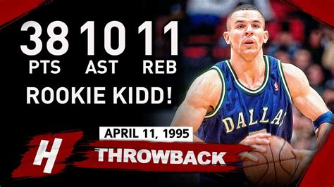 Rookie Jason Kidd COLD Full Highlights vs Rockets 1995.04 ...