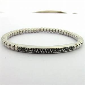 bijoux pour hommes diamants noirs bracelet or gris With bijoux homme or