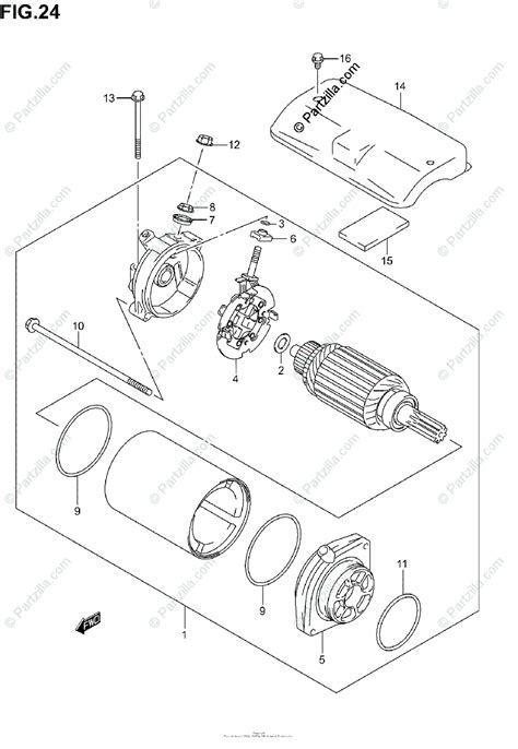suzuki motorcycle  oem parts diagram  starting