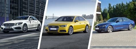 Audi A4 Vs Bmw 3 Series by New Audi A4 Vs Mercedes C Class Bmw 3 Series Carwow