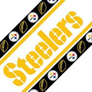 Pittsburgh Steelers Bathroom Decor by Nfl Pittsburgh Steelers Football Peel Stick Wall Border