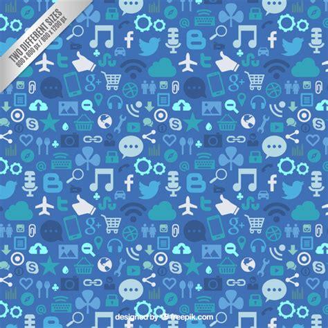 Social Media Background Social Media Background In Blue Tones Vector Premium