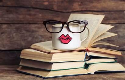 Books Cup Coffee Glasses Funny Mug Lips
