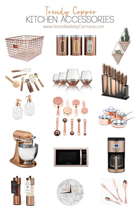 trendy kitchen accessories trendy copper kitchen accessories home made by carmona 2933