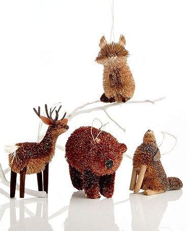 martha stewart woodland animal ornaments rustic bridal