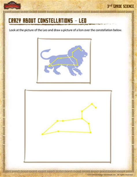 constellation of leo worksheet leo constellation 3rd grade science worksheets sod