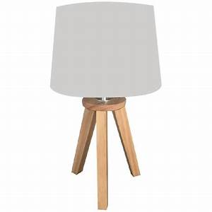 Lampe Chevet Scandinave : lampe scandinave 3 pieds en bois gris atmosph ra pas cher prix auchan ~ Teatrodelosmanantiales.com Idées de Décoration
