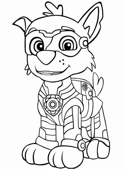 Mighty Paw Patrol Pups Rocky Coloring Patrouille