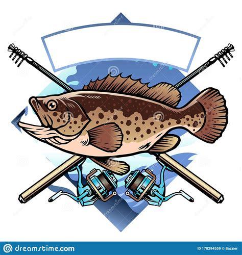 grouper fishing vector