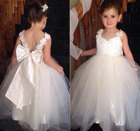 bow knot cute flower girls dresses  weddings  ball