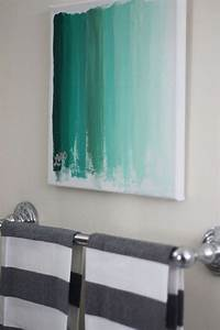 Diy wall art bathroom : Diy painting ideas for wall art pretty designs