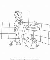 Plumber Coloring Sheet Diary Activities sketch template