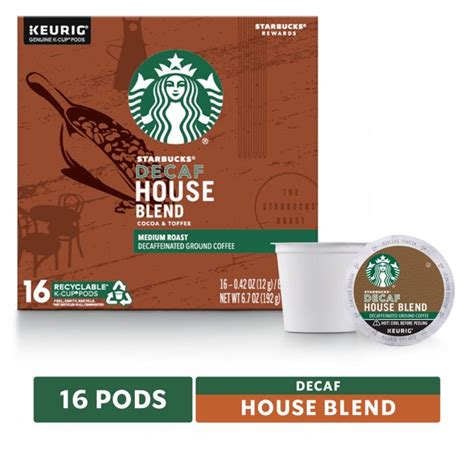 Sample 40 different decaf flavored coffee's without purchasing multiple boxes, no duplicates. Starbucks Decaf K-Cup Coffee Pods — House Blend for Keurig Brewers — 1 box (16 pods) - Walmart ...