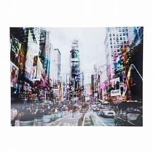 Tableau En Verre : tableau en verre times square move 120x160cm kare design ~ Melissatoandfro.com Idées de Décoration