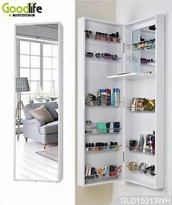 Espejo de pared y muebles de caja de maquillaje con espejo for Make up schrank