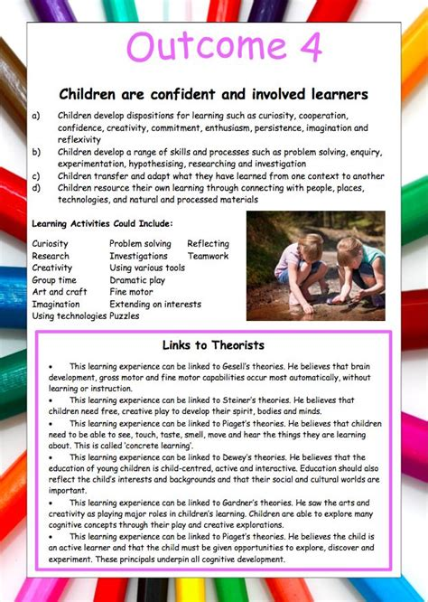 posters signs eylf theorist pack learning stories