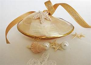mermaid39s ring box engagement ring box upcycled shell box With mermaid wedding ring