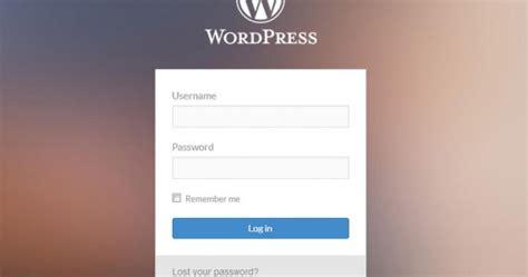 Wordpress Style Login Form