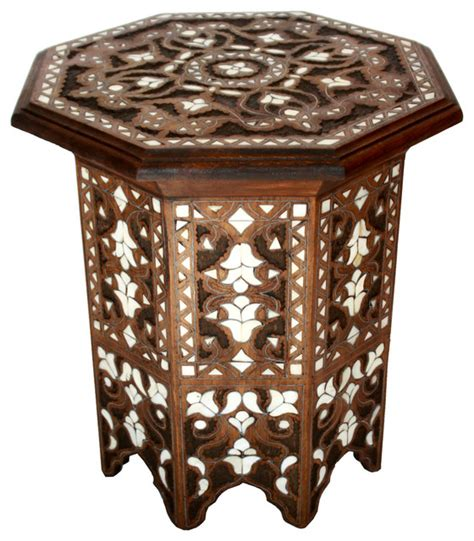mother of pearl end table moroccan mother of pearl side table design 1